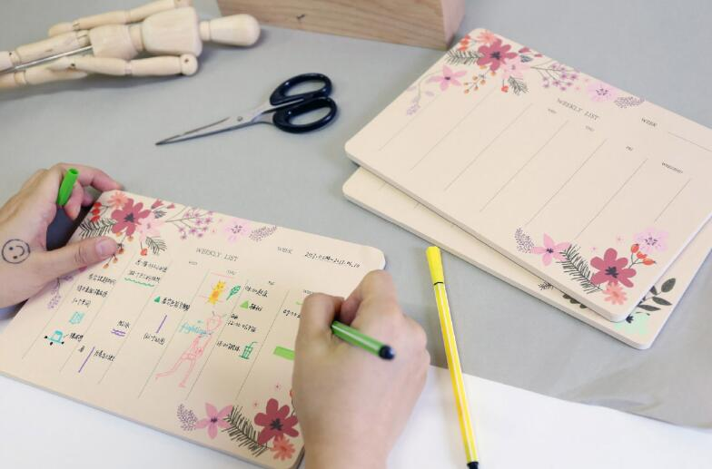 Floral Weekly Planner Organiser Desk Table Business Schedule To Do List Planning Pad 17 x 24.5cm business planning to ease repaying loans