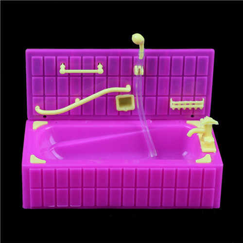 1PCS Doll Accessoris fit for 3.5inch Dolls Baths Sprinkler Bathtubs For Kylie Bath With Soap Boxes Baby Bath Toys