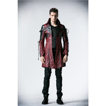 Punk Rave Rock Studded Cotton Jacket Coat Streampunk Mens Jackets Street  Personality Coats