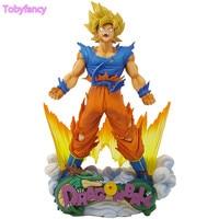Figura Dragon Ball Son Goku Super Saiyan MSP The Escova estatueta de PVC 240mm Bola Dragão Figura de Ação Z DBZ DragonBall Z