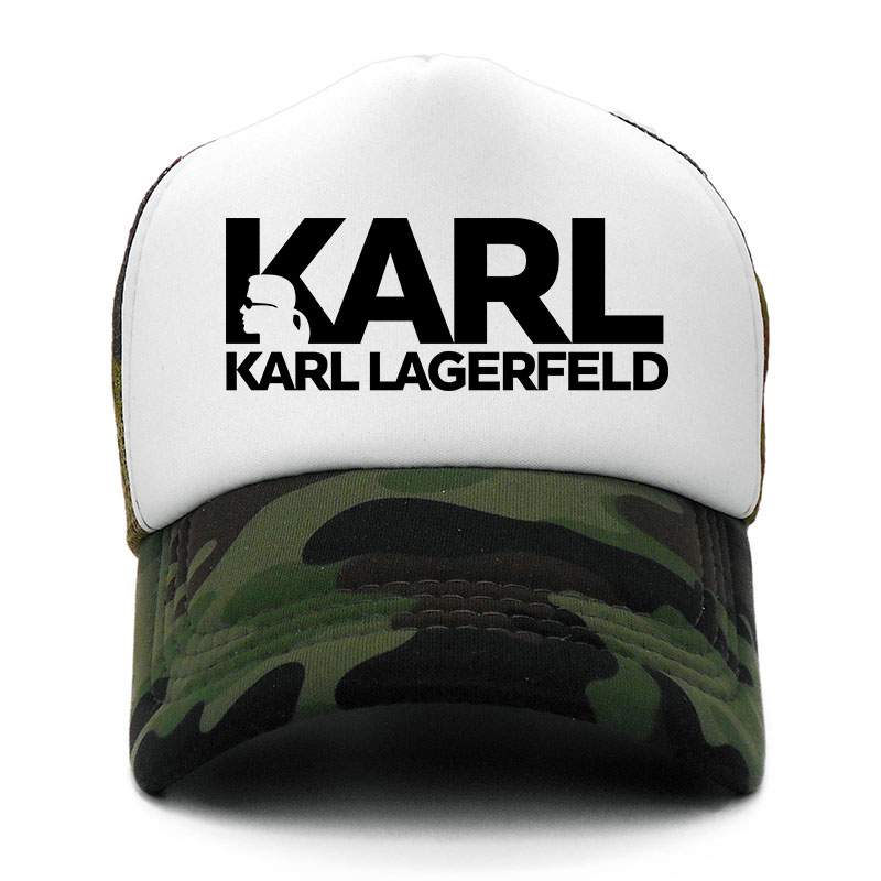 Karl Lagerfeld Men's   Baseball     Cap   Print Summer Mesh   Cap   Hats For Men Women Snapback Gorras Casual Hip Hop   Caps   Dad Hat