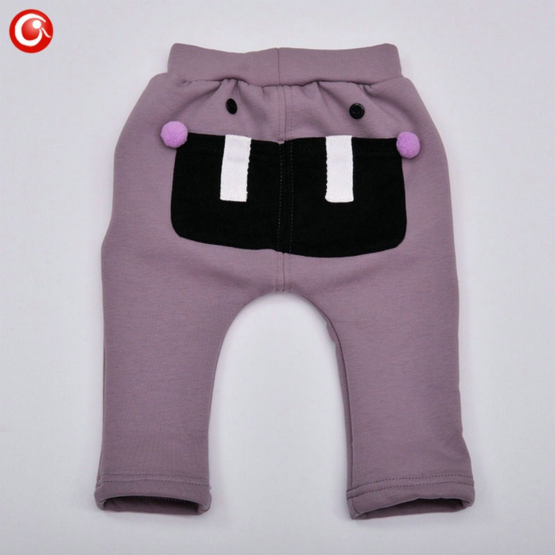 7-24M Baby Winter Tights For Boys Warm Plushed Kids PP Pants For Girls Infantil Bebes Thicken Trousers Clothes 2016  (2)