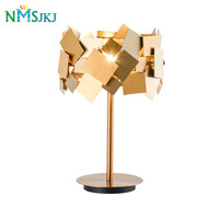 Post Modern LED Gold Stainless Steel Desk Lamps Floor Lamp for Bedroom Living room Bar Cafe Garment Shop Hotel