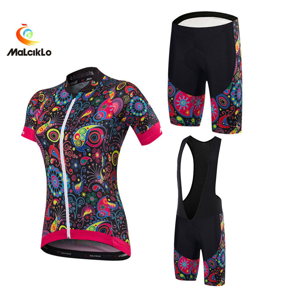 Women Cyclists Clothes Roupa Ciclismo Maillot Bicycle Jersey Set Lady MTB Bibs Short Pants Sportswear Suit Bike Clothing Custom