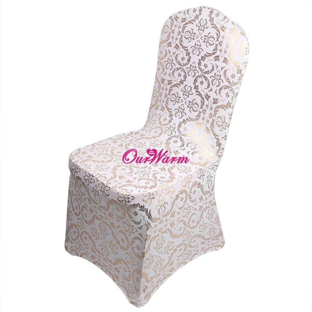 12pcs Bronzing Chair Cover Elastic Spandex Coverings