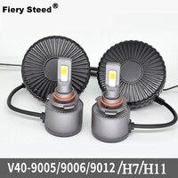Fiery Steed Led Light Car 60W 4000LM 6000 6500K Mini Canbus Lampada H11 H7 LED Car Headlight D2 9005 9006 9012 Auto Headlights