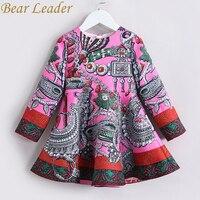 Bear Leader Girls Dress 2017 New Autumn European American Style Long Sleeve Colorful Princess Dress Luxury