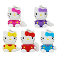 free shipping genuine special silicone cartoon hello kitty cat usb flash drive 8gb cute girls pen drive 64GB gift with chain