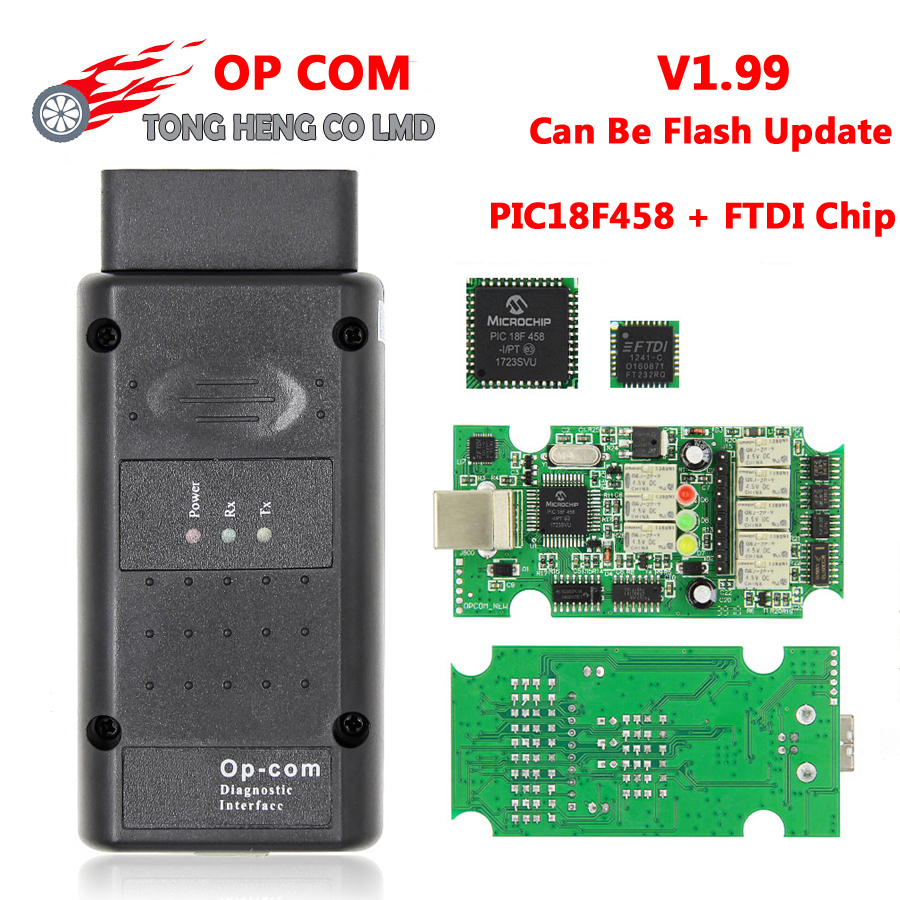 hight resolution of v1 99 op com pic18f458 ftdi chip firmware can be flash update op com diagnostic interface auto diagostic tool for opel opcom