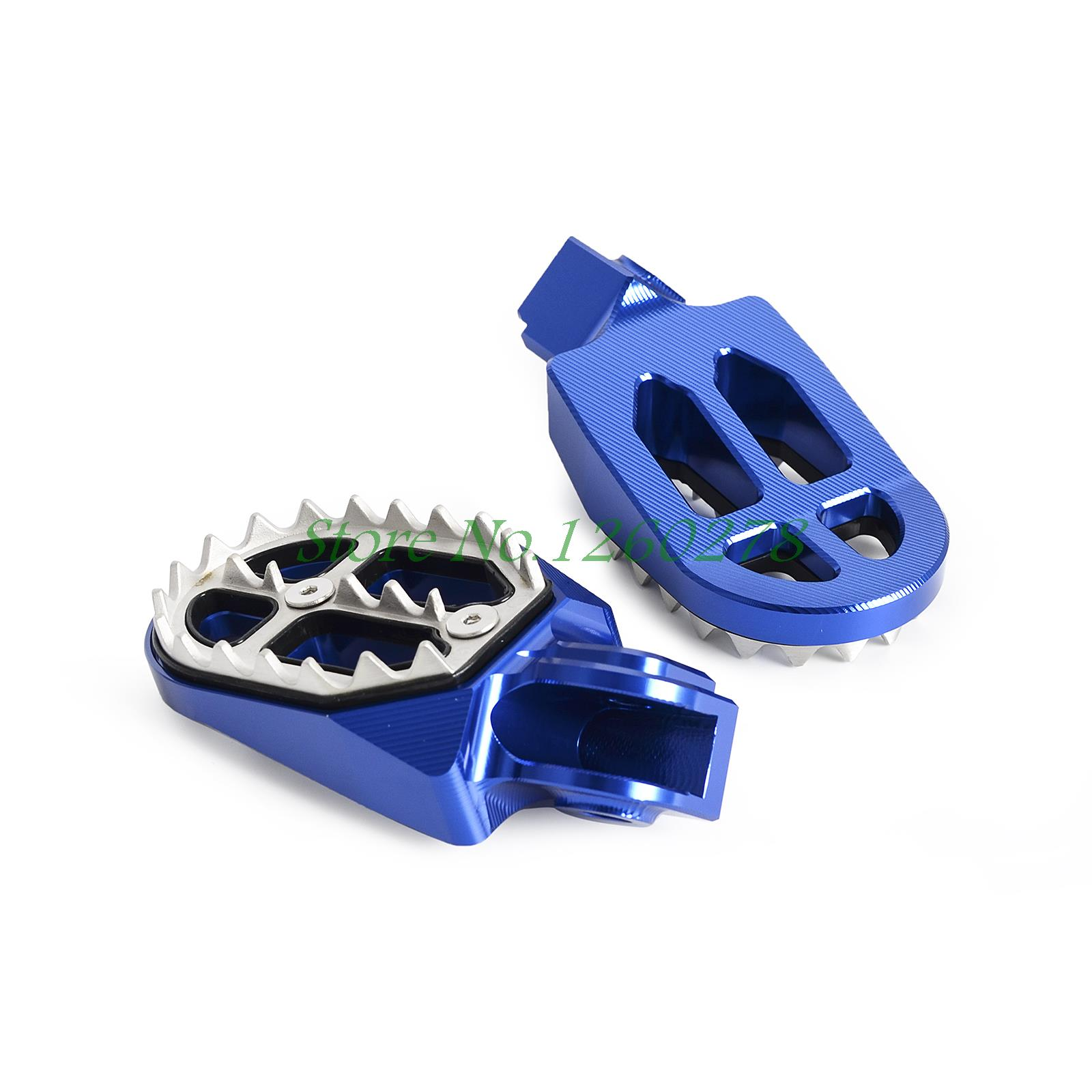 Billet MX Foot Pegs Rests Pedals For Husqvarna FE/FC/TE/TC 65 85 125 150 250 300 350 400 450 501 701 Husaberg FE/TE/FS/FX 09-14