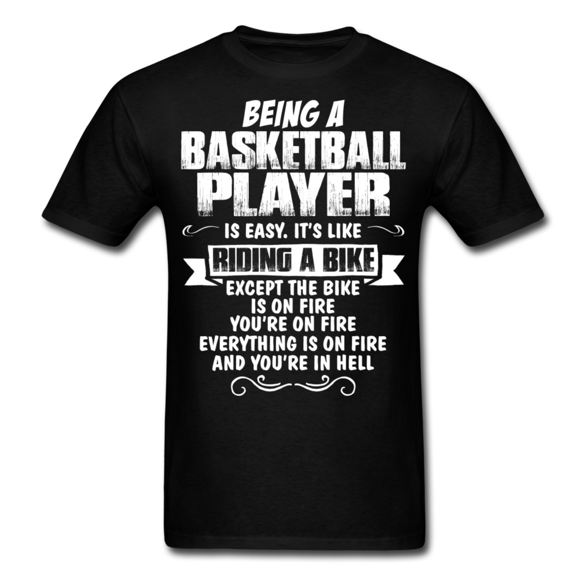 Basketballer Player Funny Quote Men\'s T Shirt Design T Shirts Casual ...