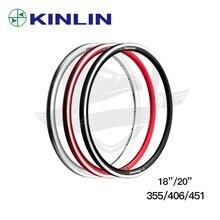 Высокое качество Сверхлегкий велосипедный обод KINLIN XR240 18/20 дюймов диски 355/406/451 обод колеса велосипеда 16/20/24 Отверстия