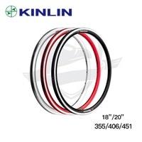 high quality Ultralight bike rim KINLIN XR240 18 / 20 inch rims 355/406/451 bicycle rim 16/20/24 holes