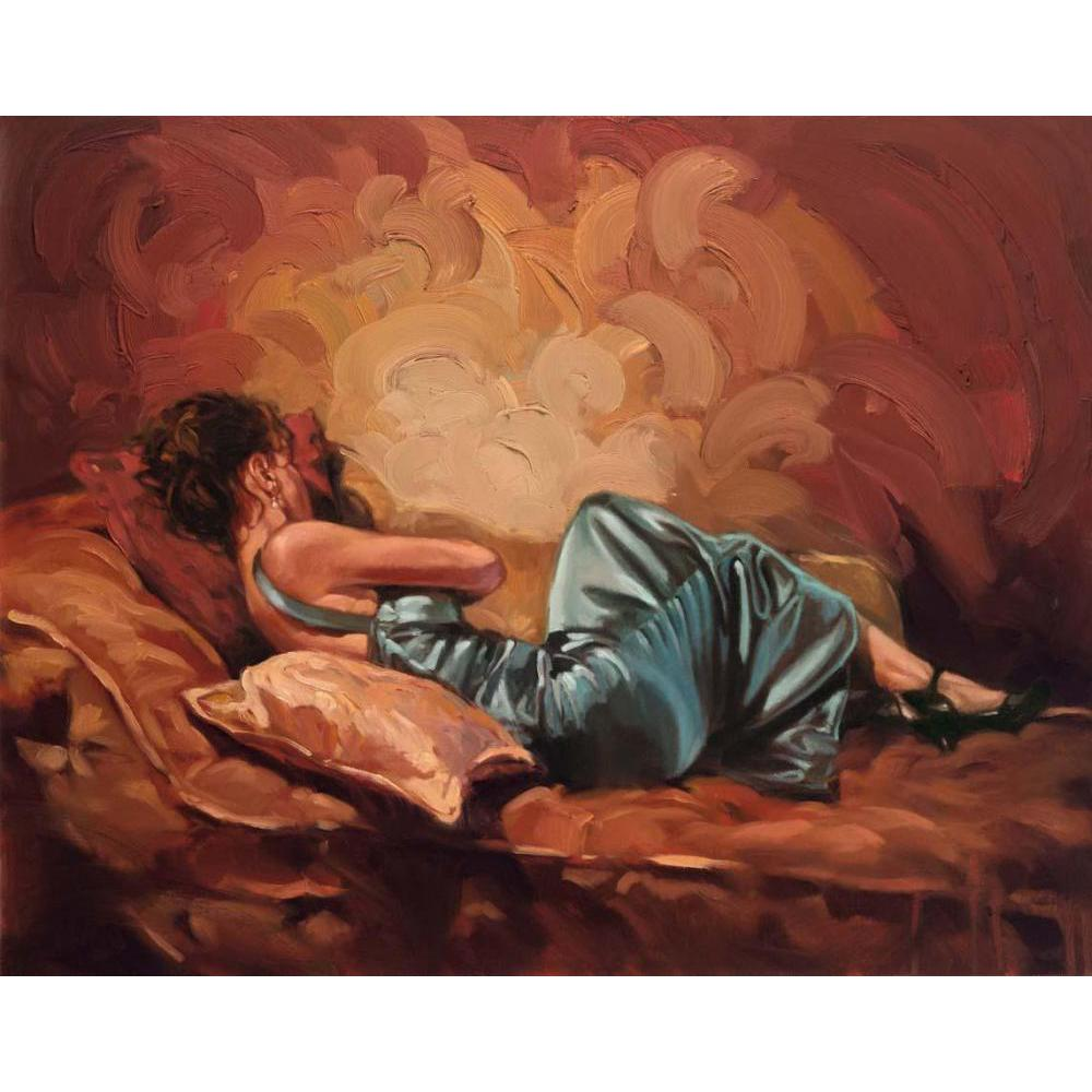 Canvas art figures A Moment Of Tranquility Girls oil paintings modern pictures Hand painted wall decorCanvas art figures A Moment Of Tranquility Girls oil paintings modern pictures Hand painted wall decor