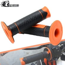 One Pair For Duke All Left 22mm Right 24mm Motocross Motorcycle Accessories Orange Rubber HandleBar Pro Sport Bikes