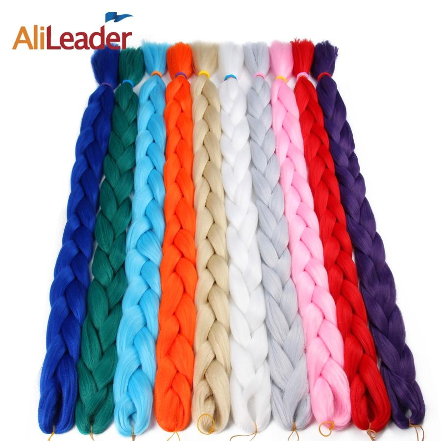 Productos para el cabello AliLeader 36 pulgadas de ganchillo largo trenzado de pelo Kanekalon japonés trenzado de cabello, 1pcs / lote extensiones de cabello sintético