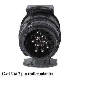 Image 4 - AOHEWEI 12V 13 Pin plug to 7 Pin socket  trailer adapter plug  trailer truck connector  plug socket 13 to 7 pin towing adapter