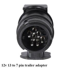 Image 4 - Aohewei 12 v 13 핀 플러그 7 핀 소켓 트레일러 어댑터 플러그 트레일러 트럭 커넥터 플러그 소켓 13 7 핀 견인 어댑터