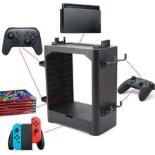 Storage Bracket Holder Tower Carrying Stand Display Shelf Game Accessories for Nintend Switch NS Joystick Disc Card Console