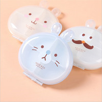 Mini Cute Pill Box Rabbit 4PCS Lot Portable Medical Kit Cute 4 Grid Seperate Medicine Drug