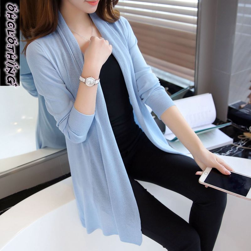 OHCLOTHING Spring In The New Womens 2019 Loose Long Sweater Cardigan Sweater Shawl Female Thin Coat For Summer Air Conditioning