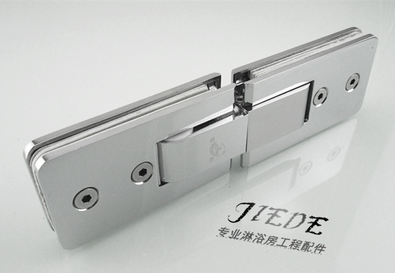 Light copper bathroom clamp extended 180 degree cushioning shower room accessories glass door hinge glass clip