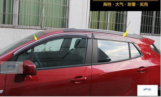 Para Vauxhall/OPEL Mokka/BUICK ENCORE 2013-2015 Ventana Toldos viseras Deflector de Viento Lluvia Visera Guardia Vent 4 unids/conjunto