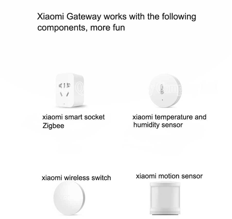 Original Xiaomi Multifunctional Gateway Work with Door Window Temp Humidity Human Body Sensor Wireless Switch Socket Controller-10