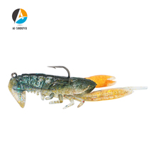 AI-SHOUYU NEW 1pc Shrimp Lure with Hook 50mm 14g Saltwater/Freshwater  Artificial Fishing Soft Carp Bait