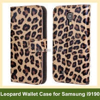 Fashion Leopard Print PU Leather Wallet Flip Cover Case For Samsung Galaxy S4 Mini I9190 Free