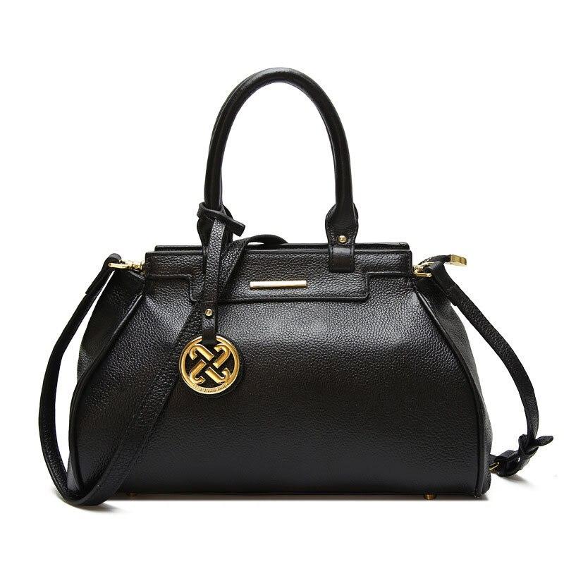 Luksusowe torebki torby projektant znane marki Crossbody prawdziwe prawdziwej skóry pierwsza warstwa wołowej torby torba na ramię torebka damska w Torebki na ramię od Bagaże i torby na  Grupa 3