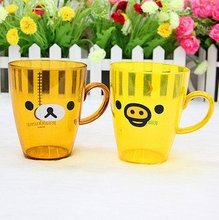 Free Shipping 2pcs/lot SAN-XEasily/Rilakkuma Bear Cups Handle Milk Cup H1208