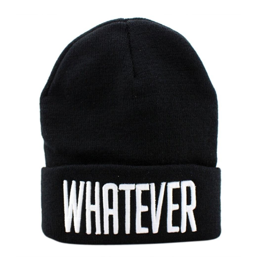 TKOH Men Women Winter Whatever Beanie Hats Knit Cap (black) shocking show 2016 new design winter black whatever beanie hat and snapback men and women cap