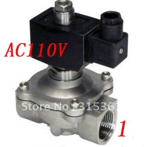 Free Shipping 5PCS/Lot 1' Normally Open Oil Acid Solenoid Valve VITON Stainless Steel AC110V wholesale pump solenoid valve sk200 6 5pcs lot free shipping