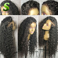 Deep Curly Lace Frontal Wigs For Black Women Brazilian Virgin Hair Wigs Glueless Full Lace Human Hair Curly Wigs With Baby Hair