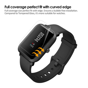 Image 4 - 5個amazfitビット超薄型antiexplosion tpuスクリーンプロテクターxiaomi huami amazfit bipペースliteユーススマート腕時計