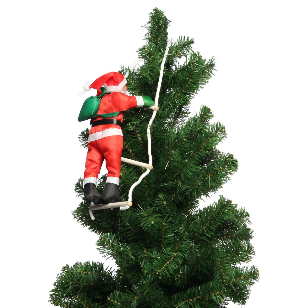 newest climbing santa claus with rope ladder outdoor christmas tree decorations for home new year gifts party events supplies in pendant drop ornaments