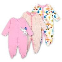 Для маленьких мальчиков и девочек футбольные пижамы оригинальный хлопок Весна пижамы 1 шт. Pja мать гнездо животных Рождество комбинезон baby'sets