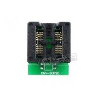SOP8 TO DIP8 2 Units SO8 SOIC8 Enplas IC Programming Adapter Test Burn in Socket 5.4mm Width 1.27mm Pitch
