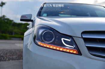 Car headlight For Benz W204 headlights 2011-2013 C180 C200 C260 led headlight led drl H7 hid Bi-Xenon Lens low beam Front light - DISCOUNT ITEM  20% OFF All Category