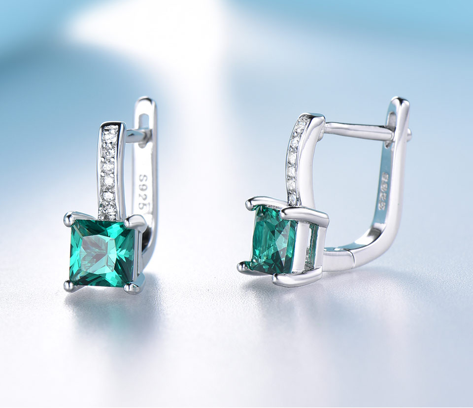 UMCHO-Emerald-925-sterling-silver-clip-earrings-for-women-EUJ060E-1-PC_04