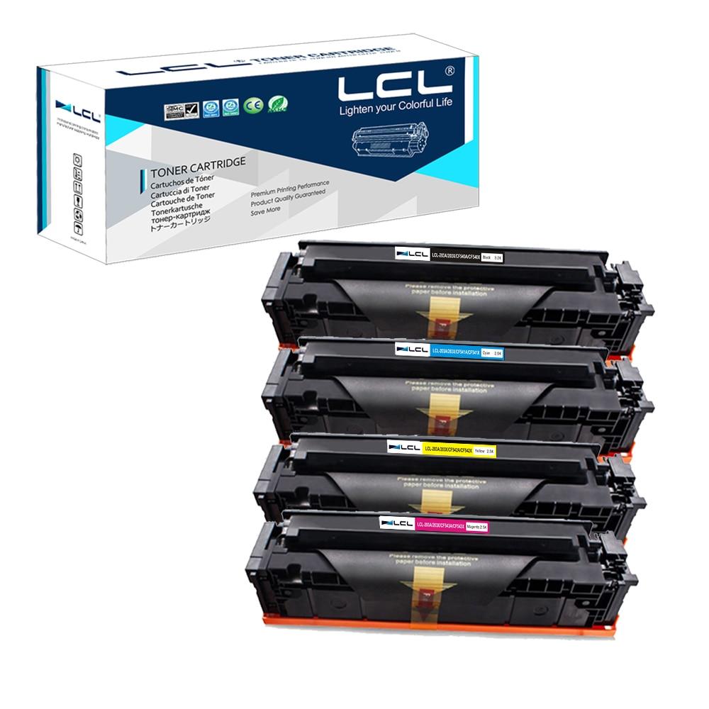 LCL 203A 203X CF540A CF540X CF541X CF542X CF543X (4 Pack KCMY) Тонер картридж совместимый для hp color LaserJet Pro M254dw