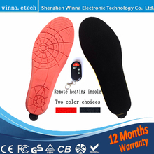New arrival heating insoles with wireless remote control Type Battery Powered women men shoes ski Insoles RED Size EUR 35-46#