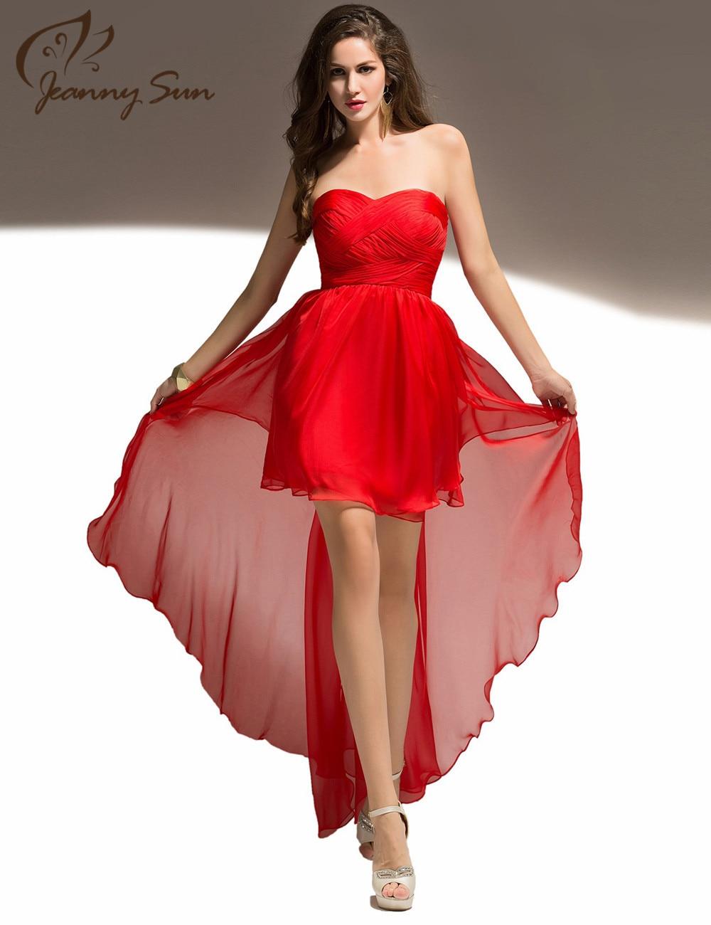 Vestidos de noche rojo cortos
