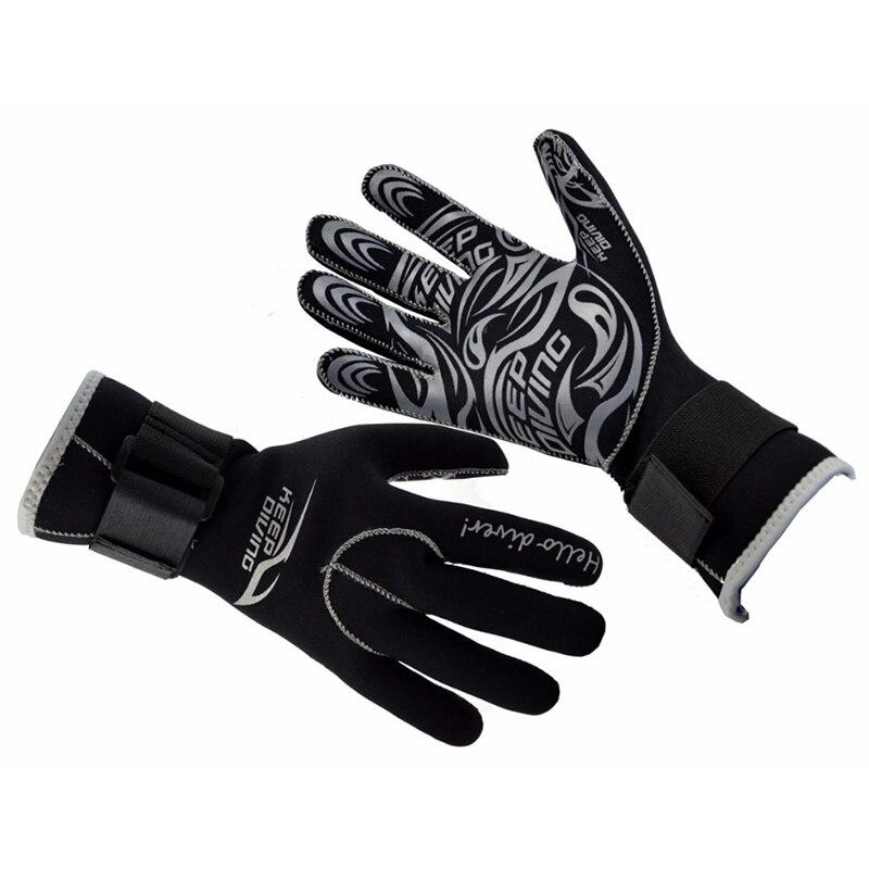 3MM Neoprene Scuba Dive Gloves Swim Gloves Snorkeling Equipment Anti Scratch Keep Warm Wetsuit Material Winter Swim Spearfishing