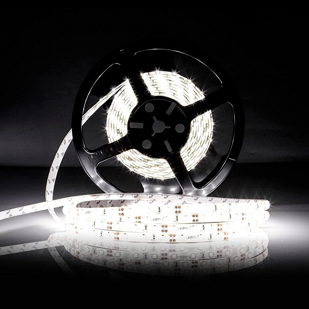 LED Strip Light 2835 DC12V Flexible 5M Band Tape 600LEDs Waterproof Ribbon White Rope With 5A Power Supply  LED Strip Kit 0 9m smd 3528 90 leds waterproof led rope light festival lighting