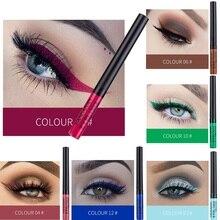 12-цветная подводка для глаз Жидкая водонепроницаемая удобная для макияжа матовая подводка для глаз