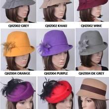 211e769762d cnQesc Magenta Purple pink 100% Wool hats winter women s hat with felt bow  best