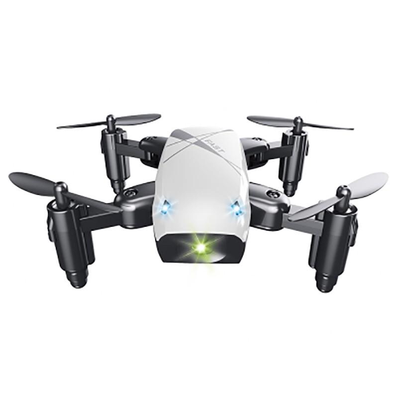2017 Nouveau Micro Pliable Drone Dron Vitesse Commutateur RC Quadcopter Sans Tête Mode Un Retour Key Quadricoptères RTF Cadeaux pour les Amis