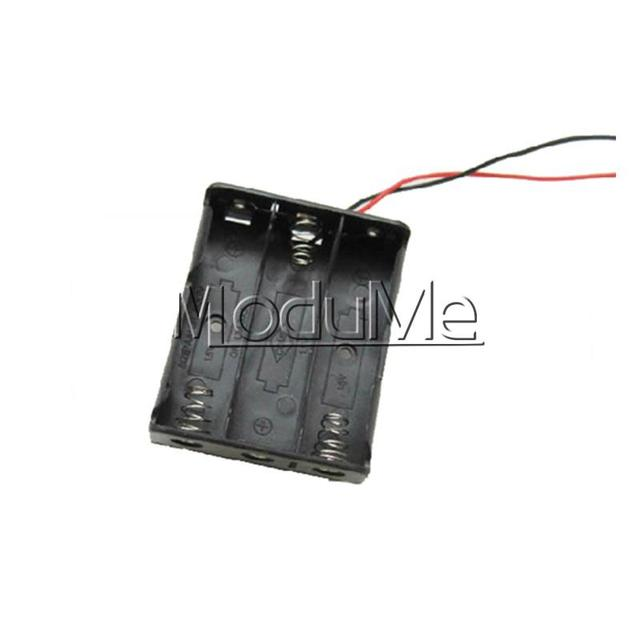 10PCS Plastic Battery Case Storage Box Holder with Wire Leads for 3 ...